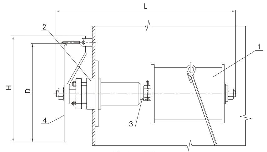 Механизм управления хлопушкой  МУ-1